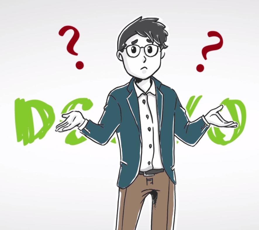 Mann mit Fragezeichen wegen DSGVO