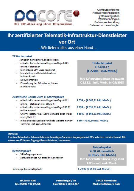 Vorschaubild Flyer Telematik Infrastruktur